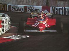 MONACO 1981 Gilles Villeneuve in a Ferrari