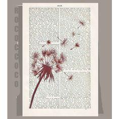 Make a WISH  ORIGINAL ARTWORK  printed on Repurposed by RococcoCo, $9.95