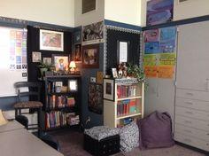 Book Nook Classroom Floor Plan, Classroom Decor, Middle School Libraries, Book Nooks, Gallery Wall, Floor Plans, Flooring, How To Plan, Home Decor