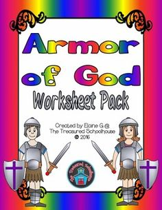 This is a large no prep print-n-go worksheet pack for the Armor of God.  These make great activities for a lesson or review.  Some of the pages include the Bible verse Ephesians 6:10-18 in different formats.There are several types of worksheets, including.Cut & Paste (2)Fill in the Blank (3)Crossword Puzzle (2)Word Search (2)Mazes (2 hard, 2 easy  each with a boy or girl)There is also an answer key for each worksheet, except for the mazes.NOTE:  The Bible verse is from the New American Bi...