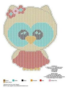VALENTINE OWL 5 by JODY VIGEANT -- WALL HANGING