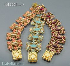 DUO Lace SuperDuo Beadwork Bracelet Pdf tutorial di bead4me, $14.00