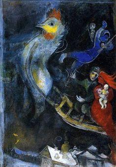 Mrc Chagall - The Flying Sleigh, 1945.