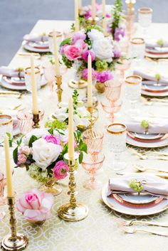 We love the idea of fun, playful wedding decor that's so elegant too - take a look at this gorgeous wedding inspiration shoot by Nicole Schmitz Photography. Wedding Decorations, Table Decorations, Centerpieces, Pantone, Bohemian Wedding Inspiration, Wedding Table Settings, Place Settings, Bridal Musings, Flowers