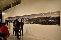 Panorâmica de Diamantina representada em fotos das décadas de 40 e 50. Exposição, Palácio das Artes, BH, MG, Brasil.