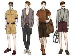 Fashion Illustrator Mengjie Di: Stylesight SS 2014 REAL