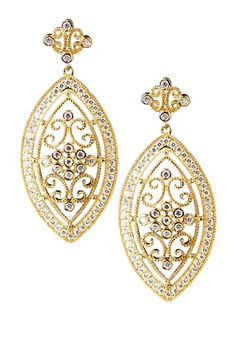Filigree Drop Earrings.