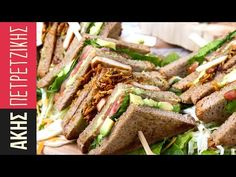 Vegetarian club sandwich by Greek chef Akis Petretzikis. A super delicious and healthy club sandwich made with tofu, avocado sauce, coconut bacon and ginger! Healthy Meals For One, Easy Dinner Recipes, Healthy Dinner Recipes, Easy Meals, Why Vegetarian, Vegetarian Recipes, Gluten Free Cookie Recipes, Greek Recipes, Food Videos