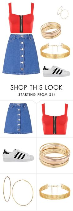 """""""Untitled #30"""" by kacis-kacis on Polyvore featuring Miss Selfridge, WearAll, adidas, Mudd and GUESS"""