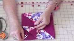 She Cuts Six 8″ Fabric Squares And Makes An Item We All Need. Watch! | DIY Joy Projects and Crafts Ideas