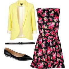 Cool floral outfit for #spring