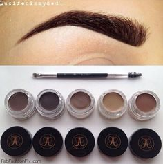 This is how you get the perfect brow using Dipbrow waterproof brow pomade by Anastasia Beverly hills. Eyebrow Beauty, Eyebrow Makeup, Mac Makeup, Makeup Kit, Kiss Makeup, Love Makeup, Filling In Eyebrows, Shape Eyebrows, Eye Brows