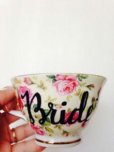 Bride tea cup. So sweet!