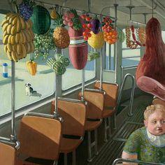 'Obsttram','Fruit Tram' - Michael Sowa | Amazon.com : Michael Sowa 2015 Calendar : Office Products