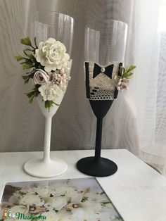 Flute, Champagne, Tableware, Diy, Wedding, Valentines Day Weddings, Dinnerware, Bricolage, Flutes