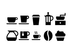 Coffee Icons by Thomas Helbig
