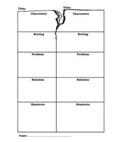 LOVE this graphic organizer for fractured fairy tales