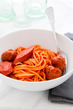Filipino-Style Spaghetti with Meatballs