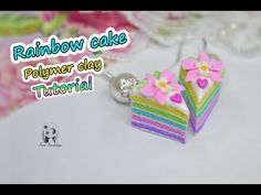 Today I'm going to show you how to make a Polymer clay earrings Rainbow cake. I hope you like this tutorial! Clay Tutorials, Polymer Clay Earrings, Christmas Tree Decorations, Crochet Necklace, Rainbow, Cake, How To Make, Kawaii, Youtube