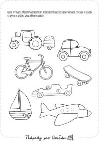 Dopravní prostředky I. Drawing For Kids, Art For Kids, Transportation Theme Preschool, Teach English To Kids, Kindergarten Coloring Pages, Autism Education, Disney Coloring Pages, Busy Book, Kids Prints