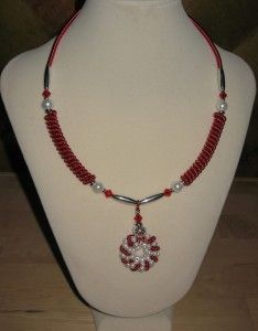 Coiled Wire Pendant Necklace Set