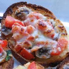 Mushroom and Tomato Bruschetta Allrecipes.com