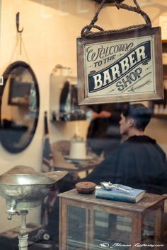I remember going to the barber shop with my Dad to get a haircut.  I loved the way they always smelled so masculine.
