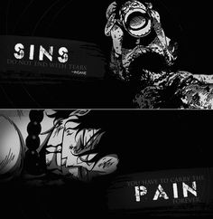 """Sins do not end with tears, you have to carry the pain forever.\"" Anime : One Piece"