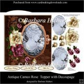 Antique Cameo Rose Topper with Decoupage