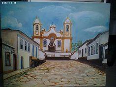 Solange Gama Coelho: Pintura em Tela,Tecido,Cursos-9196-6422(Claro),9854-3743(Tim)-Curitiba: Casario oleo sobre tela