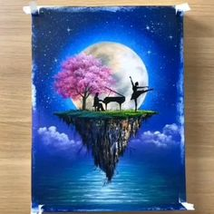 3d Art Drawing, Cool Art Drawings, Canvas Painting Tutorials, Diy Canvas Art, Art Painting Gallery, Creative Art, Watercolor Art, Videos, Crafts