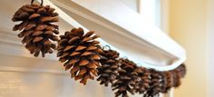 Sweet & simple pinecone garland
