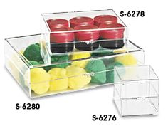 Acrylic Box, Acrylic Boxes in Stock - ULINE - 1x1x1 to 8x4x1, $147-40/carton w/ 1000-24 items/carton - *Sticker labels on top/bottom
