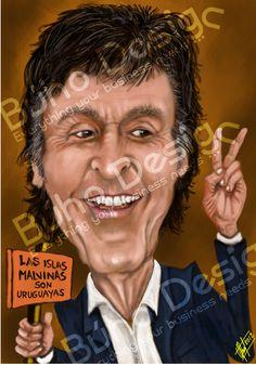 Caricaturas paul mccartney By Búho Design & Caricatiras Uruguay  http://www.buhodesign.com.uy/ http://www.caricaturasuruguay.com.uy/