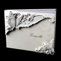 Butterfly Wedding Decorations | Butterfly Wedding Guest Book 3 in Elegant and Enchanting Butterfly ...