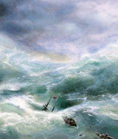 """""""Shipwreck"""" (detail), Ivan Aivazovsky."""