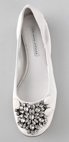 ballet flats with rhinestones