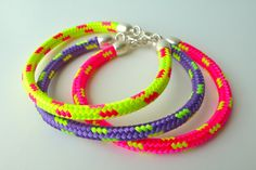 NEON sailing ropes bracelets on etsy