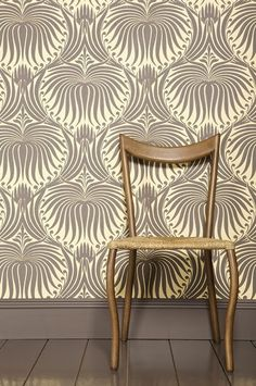 nothing better than an accent wall with wallpaper instead of paint...