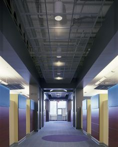 GRIDWARE™ OPEN CELL DECORATIVE SUSPENSION SYSTEM Office Hallway ceiling View