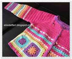 mix of knitting and crochet -
