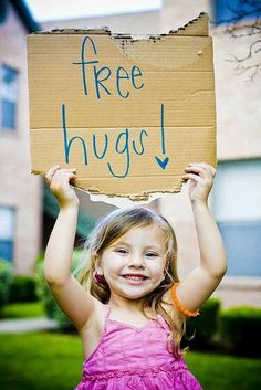 Free hugs sign Valentine photo