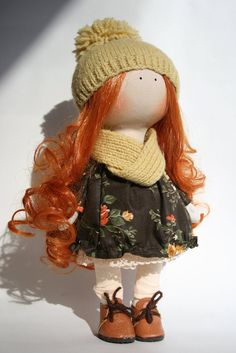 interior decor doll Handmade doll collection Doll for