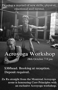 Save this date. #acroyoga #workshop #October28th #Friday