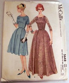1960s Floor length Gown or Dress sewing by retroactivefuture, $20.00