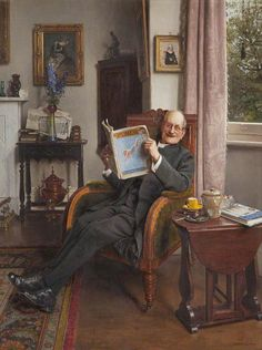 The Laughing Parson (1935). Charles Spencelayh (English, 1865-1958). Oil on canvas. Grundy Art Gallery. There is a cosy charm to Spencelayh's The Laughing Parson, depicting a benign cleric chuckling...