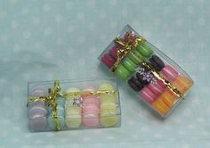 size: 4 cm long by 2 cm wide and 1 cm deep options: Box #1 (Violet, Light Blue, Light Yellow, Pink, Deep Yellow)  Box #2 (Plum, Green,