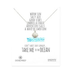 take me to the ocean clam shell necklace, sterling silver - Dogeared