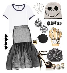 """""""The Web Queen"""" by lourdes-gio on Polyvore featuring H&M, Bernard Delettrez, Maticevski, Perrin, Charlotte Olympia and Ralph Lauren"""