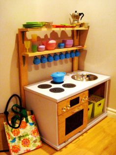 Information of Buying Furniture Online *** Be sure to check out this helpful article. Ikea Toy Kitchen, Diy Kids Kitchen, Wooden Play Kitchen, Kitchen Ideas, Ikea Toys, Childrens Kitchens, Cheap Furniture Online, Homemade Toys, Diy Toys